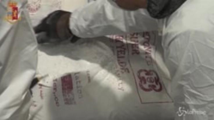 Il più grande sequestro di droga degli ultimi 20 anni: le immagini al porto di Genova