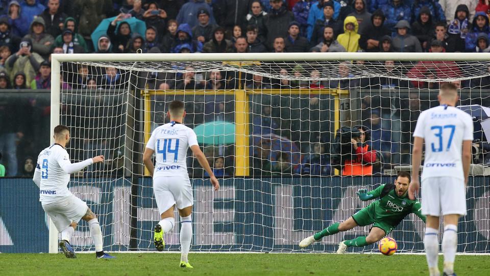 Gol del pareggio dell'Inter: Icardi segna su rigore ©