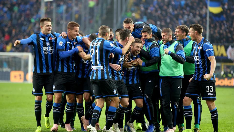 La gioia dei calciatori dell'Atalanta ©