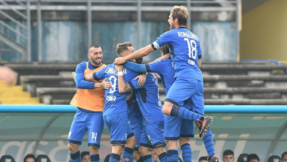Brescia-Verona 4-2 - Donnarumma festeggia dopo il gol ©
