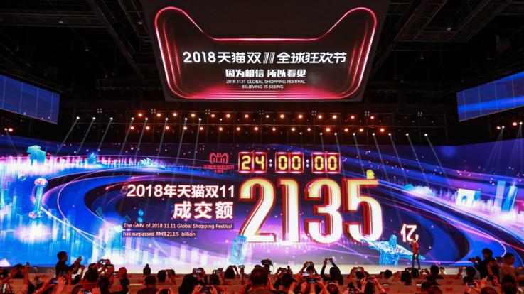 Alibaba, nuovo record di vendite nel 'Singles Day': ordini a 30,7 miliardi di dollari