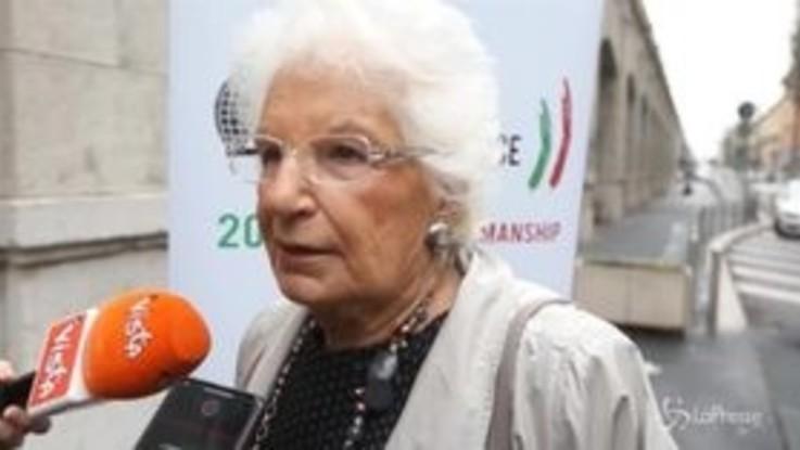 """Attacchi ai giornalisti, Liliana Segre: """"Stampa deve essere libera"""""""