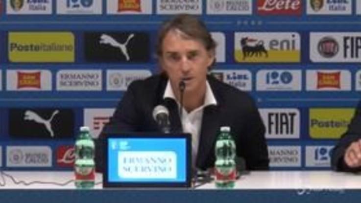 """Nazionale, Mancini: """"Immobile ha molte possibilità di partire dall'inizio"""""""