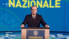 """Crozza/Berlusconi: """"Governo di irresponsabili , ci porteranno all'assolumismo, assalatismo…assolutismo"""""""