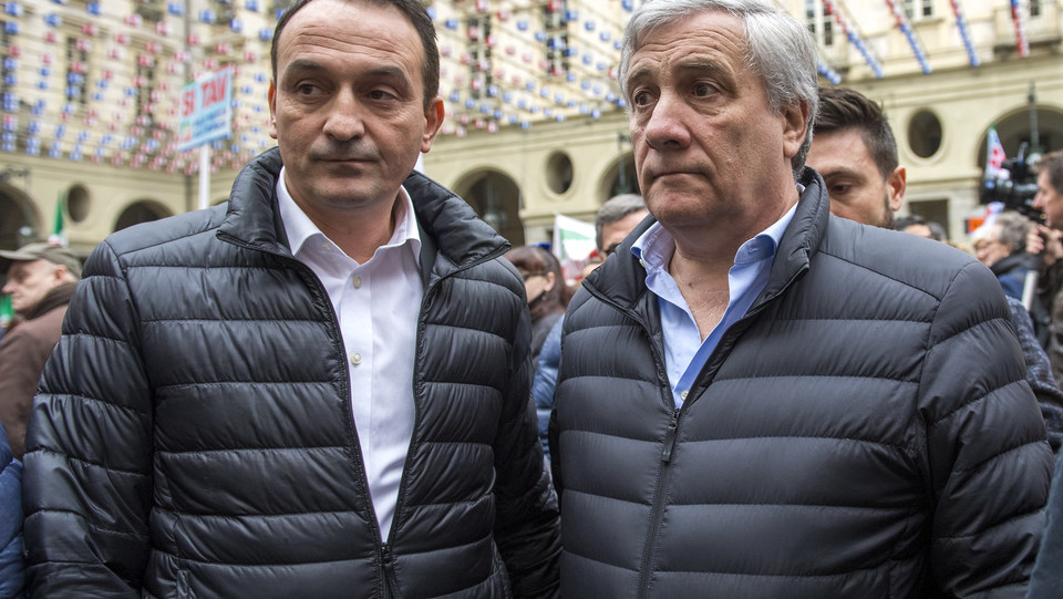 Tajani insieme a Cirio, possibile candidato contro Chiamparino alle Regionali piemontesi ©