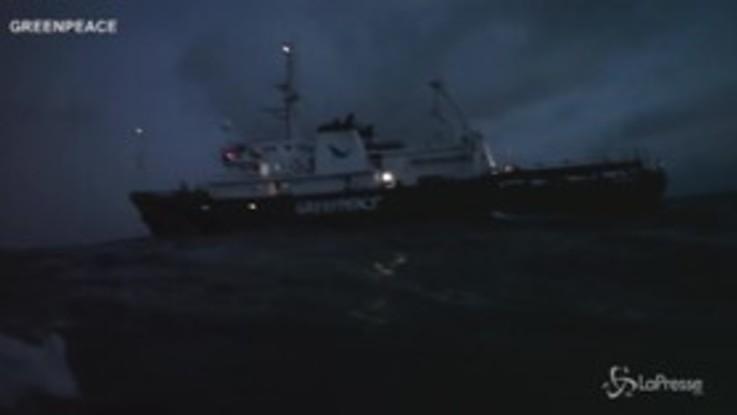 Blitz di Greenpeace su un cargo che trasporta olio di palma