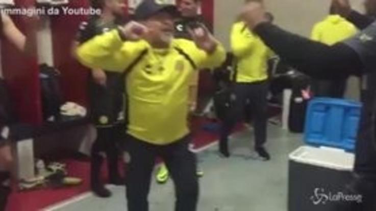 I Dorados di Maradona ai playoff, la festa negli spogliatoi