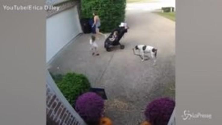 La 'bambina ninja' resta appesa al garage, la reazione della mamma sconvolta