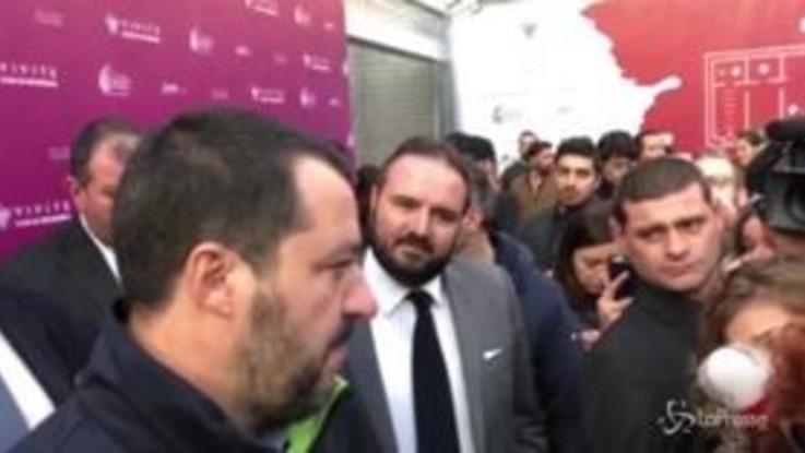 """Salvini a Vivite: """"Meglio il prosecco, lo champagne se lo tenessero i francesi"""""""