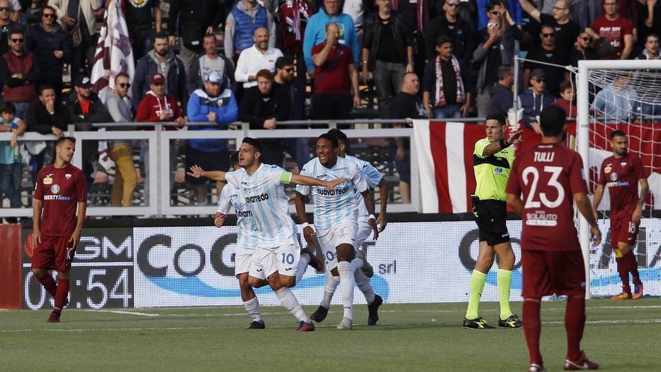 Trapani-Francavilla 3-1 - Partipilo festeggia dopo il gol ©