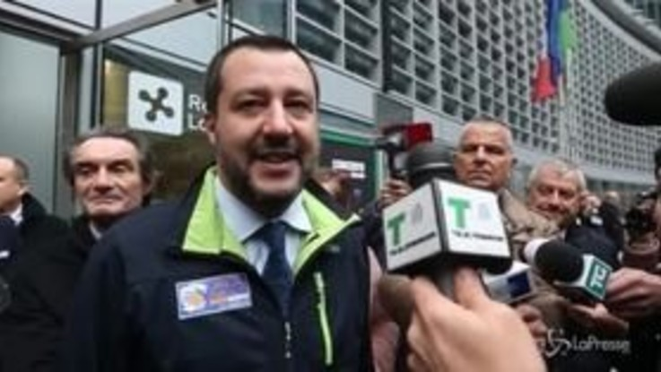 """Eurozona, Salvini: """"No a proposta franco-tedesca se danneggia l'Italia"""""""