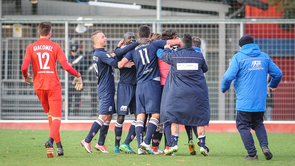 Virtus Verona-Teramo 2-0 - L'esultanza dopo il gol del 2-0 ©