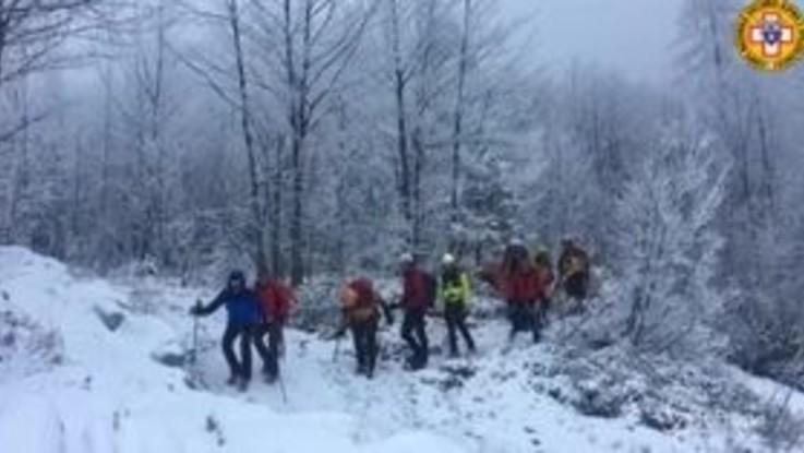 Udine: il recupero di 3 alpinisti bloccati sulla Cima Strugova