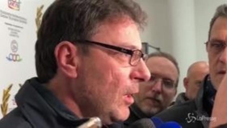 """Olimpiadi 2026, Giorgetti: """"Oneri della candidatura a carico delle città organizzatrici"""""""