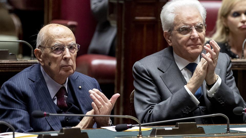 Mattarella e Napolitano ©