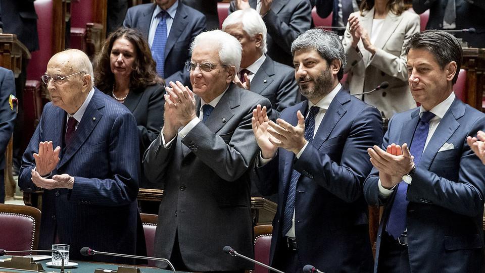 Napolitano, Mattarella, Fico e Conte ©