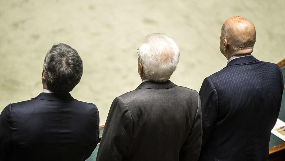 Fico, Mattarella e Napolitano ©