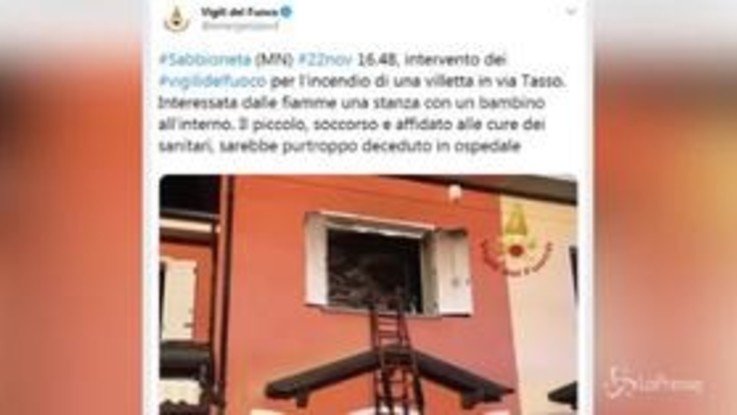Mantova, 52enne dà fuoco alla casa per punire la moglie: muore il figlio 11enne