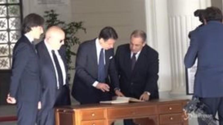 """Conte a Reggio Calabria firma il registro antindrangheta: """"Una regione che soffre molto"""""""
