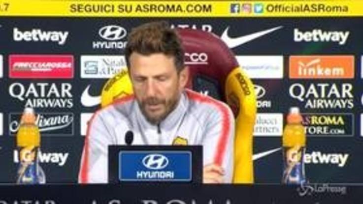 """Roma, Di Francesco: """"Sfida con Udinese più importante di Real e Inter"""""""