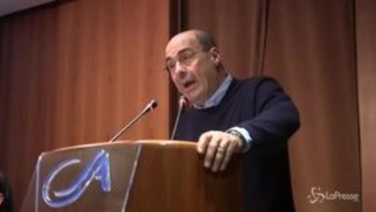 """Zingaretti: """"L'alternativa alle destre parte dalle persone, basta con l'egocrazia"""""""