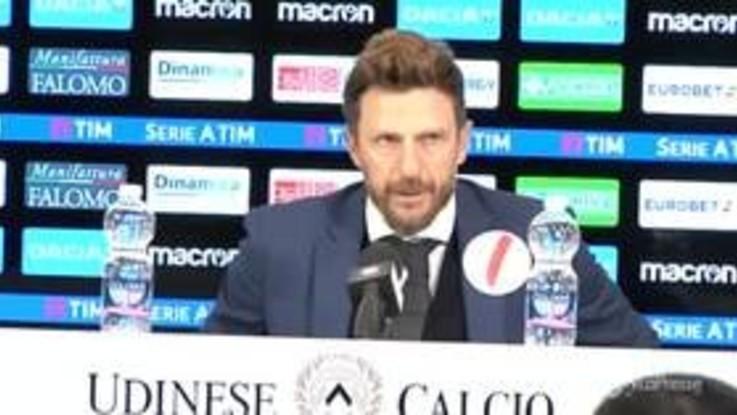 """Udinese-Roma, Di Francesco: """"Non siamo ancora una grande squadra"""""""