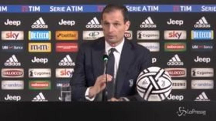 """Juve-Spal: 2-0, Allegri: """"Non era semplice, il mio pensiero va a Mazzarri"""""""