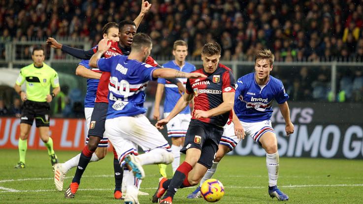 Serie A, Piatek replica a Quagliarella: Genoa-Sampdoria 1-1