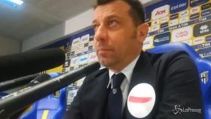 """Parma, D'Aversa: """"Primo tempo eccellente"""""""