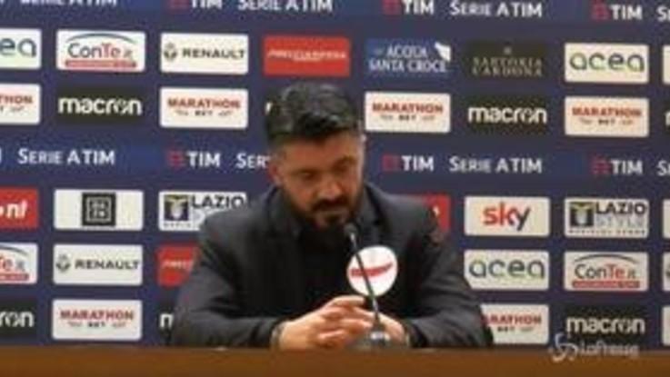 """Milan, Gattuso: """"Squadra ha dimostrato carattere. Concentrati fino alla pausa natalizia"""""""