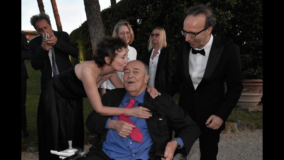 Bertolucci con Benigni e Nicoletta Braschi al McKim Medal Gala (2018) ©