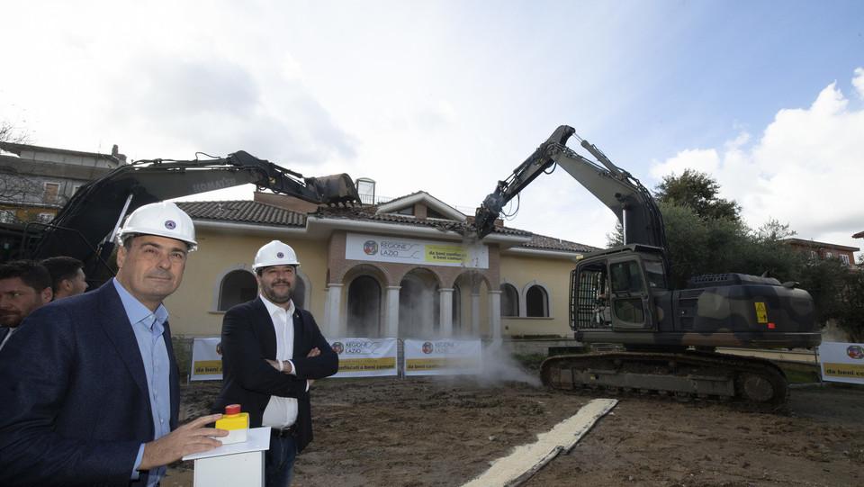 Salvini con il governatore Zingaretti ©