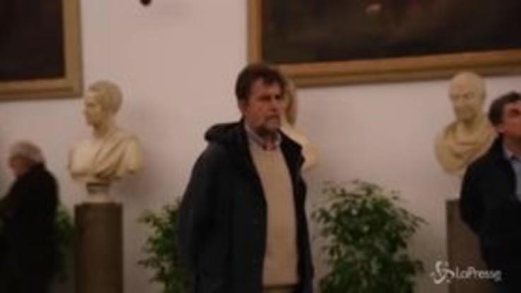 Nanni Moretti alla camera ardente di Bertolucci