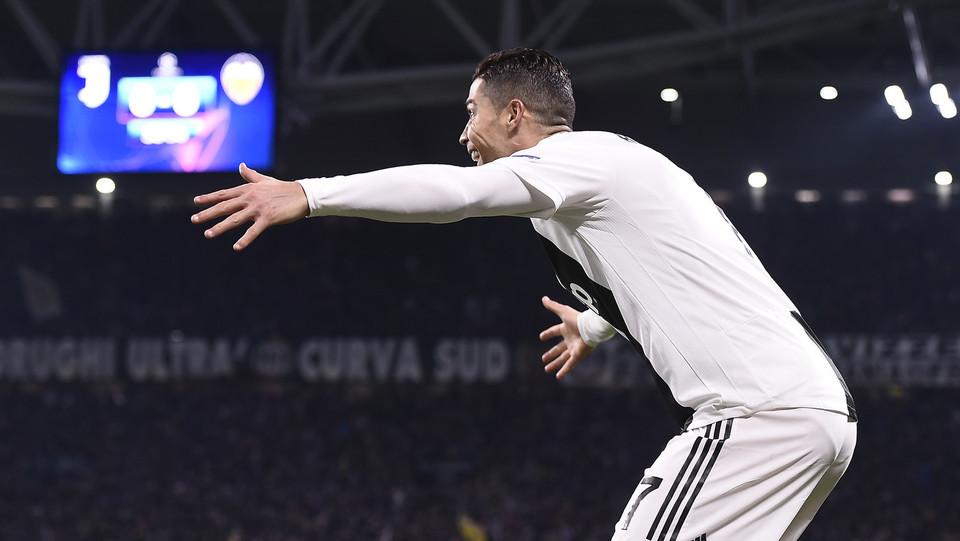 La gioia di Ronaldo dopo il gol del vantaggio ©