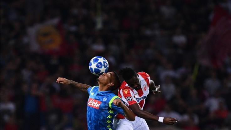 Champions League: Napoli ok 3-1 con la Stella Rossa, ma qualificazione ancora aperta