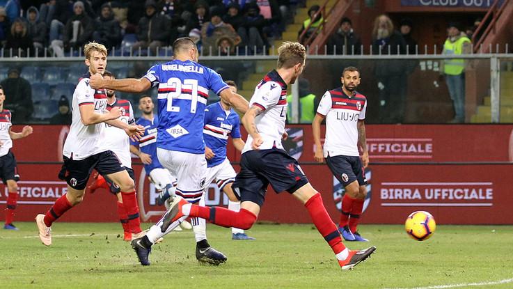 Sampdoria Bologna Ramirez Quagliarella Caprari