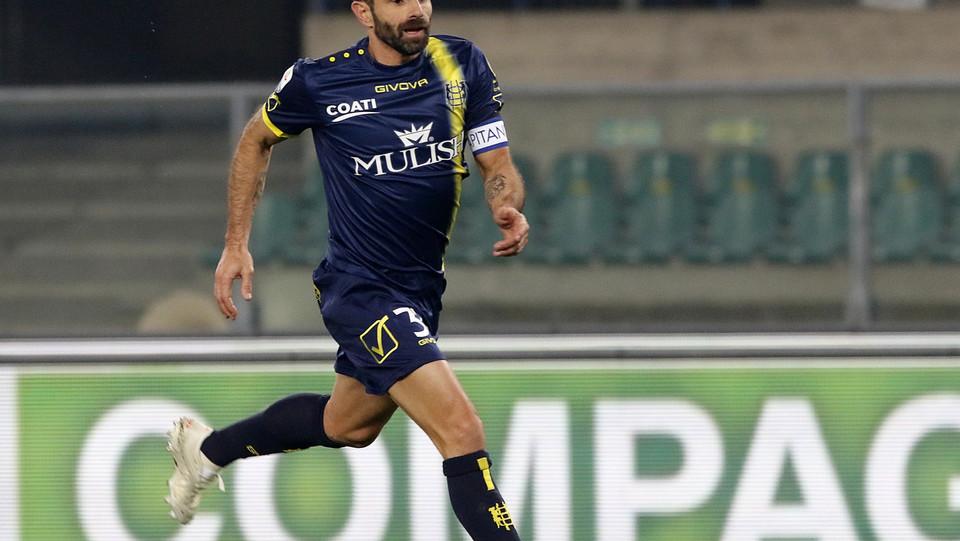 Il gol di Pellissier al 25' che porta il Chievo in vantaggio ©