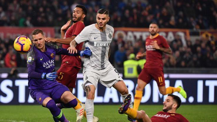 Serie A, tra Roma e Inter è pari spettacolo: all'Olimpico è 2-2