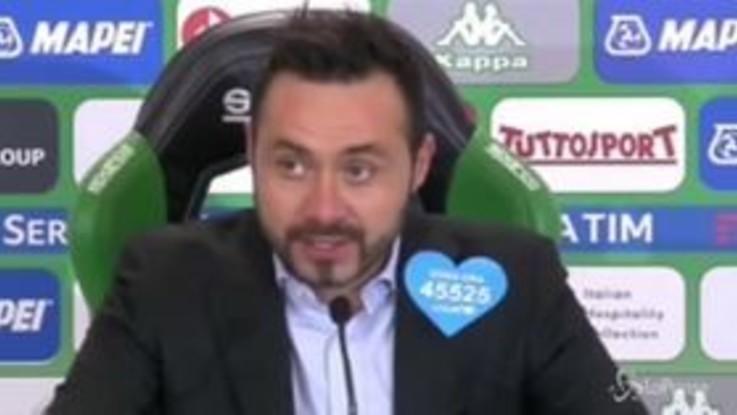 """De Zerbi: """"Nel primo tempo contratti, colpa della sconfitta col Parma"""""""