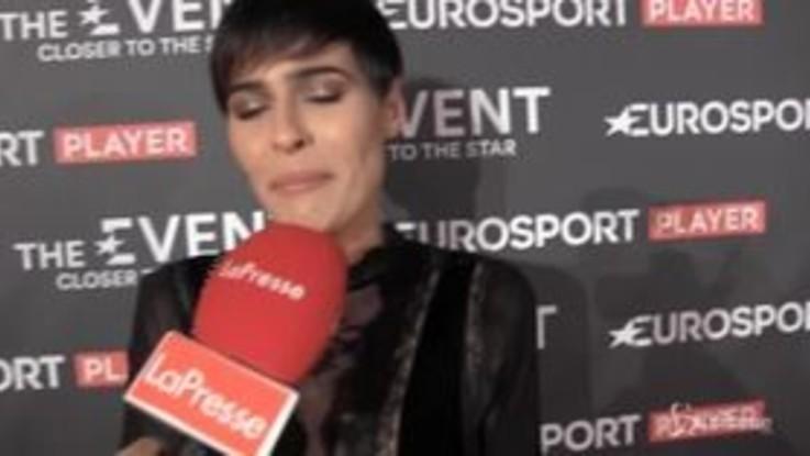 L'Ex Miss Italia Alice Sabatini nella casa del basket di Eurosport player