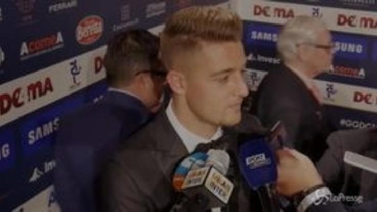 """Gran Galà del calcio, MIlinkovic Savic: """"Milan? Sono alla Lazio e sto bene qua"""""""
