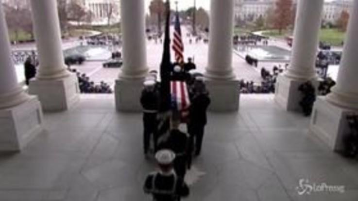 Trump e grandi del mondo ai funerali di Bush senior