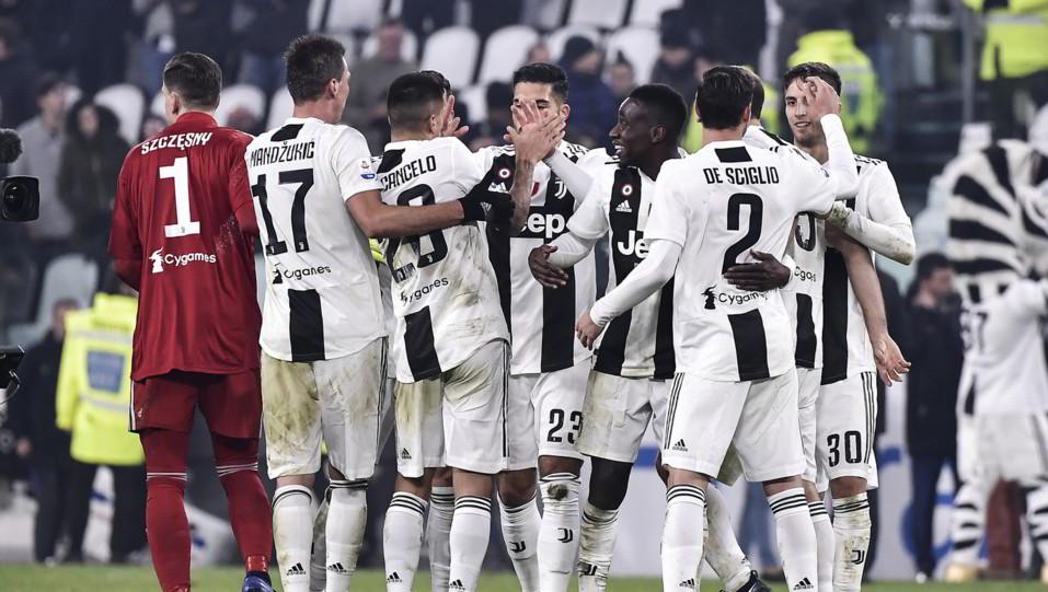 La Juve esulta: è prima a +11 dal Napoli e a +14 dall'Inter ©