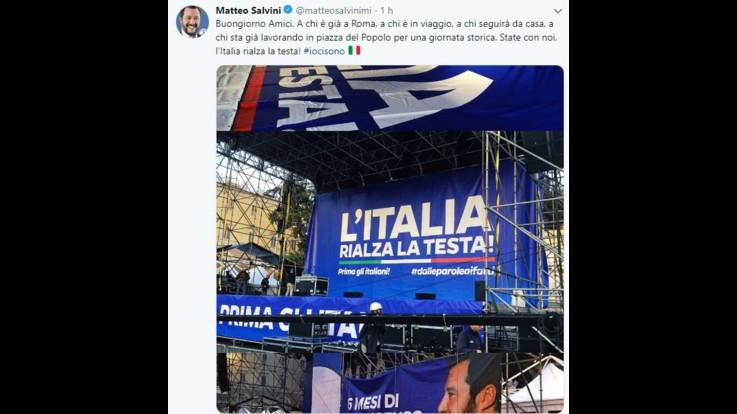 Lega, Salvini si prepara per piazza del Popolo a Roma: in arrivo 250 pullman e 3 treni