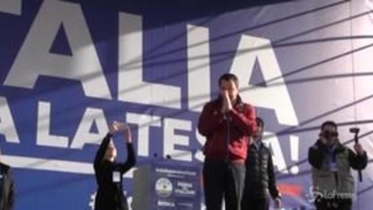 Festa della Lega a Roma: Salvini ricorda le vittime della discoteca di Corinaldo