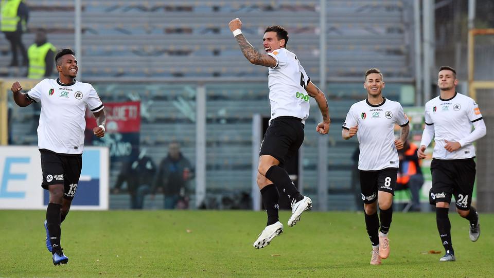 Spezia-Cosenza 4-0. Bartolomei esulta ©