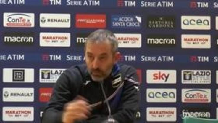 """Lazio-Sampdoria 2-2, Giampaolo: """"C'è una provvidenza divina"""""""