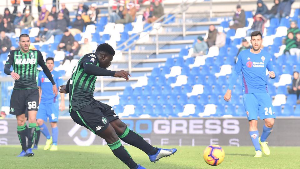Alfred Duncan del Sassuolo segna il goal dell'1-0 ©