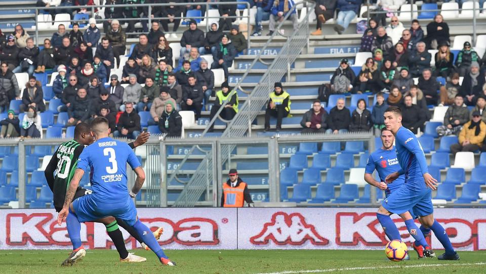 Il secondo gol delm Sassuolo segnato da Babacar ©