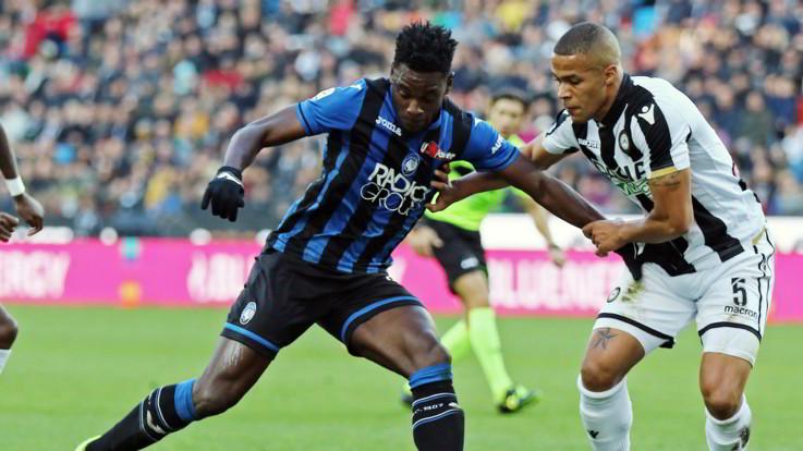 Serie A, uragano Zapata: Atalanta corsara a Udine 3-1